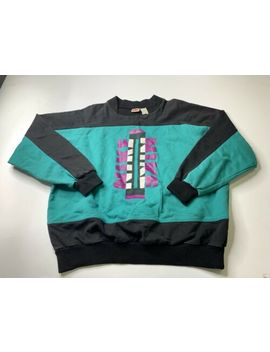 Vintage Nike Sweatshirt Gray Tag Aztec Navajo Spellout Men's Size Large by Nike