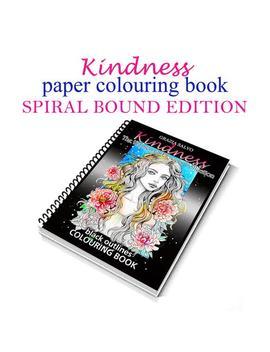 Spiral Bound Edition Of Paper Colouring Book: Kindness. The Women Of Flowers Collection. A4 Format 200 Gsm Paper Weight, 25 Colouring Pages by Etsy