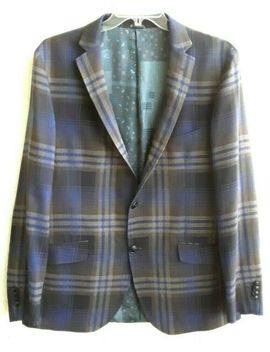 $685 Etro Superleggera Plaid Wool Silk Lined Jacket It 58 Us 48 Tropical Weight by Ebay Seller