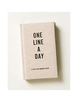 One Line A Day Canvas Five Year Memory Book by Olivar Bonas