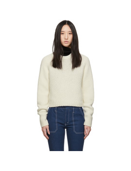 Off White Wool Cashmere Chunky Sweater by ChloÉ