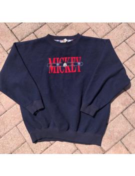 Vtg Mickey Mouse Disney Crewneck Sweatshirt Stitched Fleece by Vintage  ×  Disney  ×