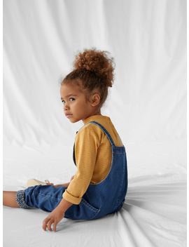Denim Dungarees With Jersey Lining by Zara