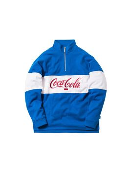 Kith X Coca Cola Quarter Zip Rugby Blue by Stock X
