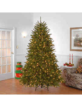 National Tree Company 7.5 Foot Dunhill Fir Pre Lit Christmas Tree With Clear Lights by Bed Bath And Beyond