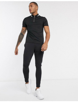Asos Design Co Ord In Poly Tricot In Black. by Asos