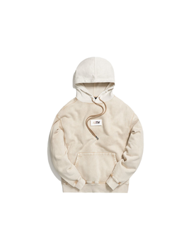 Kith Color Blocked Crystal Wash Williams Hoodie White Pepper by Stock X
