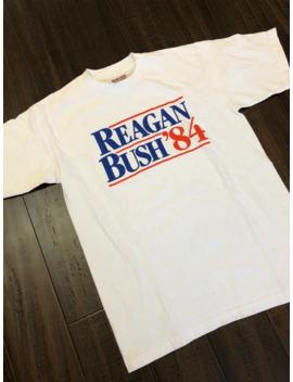 Reagan Bush 1984 Presidential Election Tee by Vintage  ×