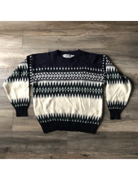 Knit Sweater Made In Korea Size Small by Vintage  ×  Coloured Cable Knit Sweater  ×