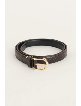 Siena Half Oval Belt, Brown by Olive