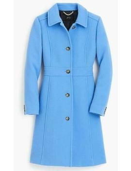 J Crew Double Cloth Lady Day Coat Thinsulate Outerwear 49622 $398 Deep Peri 6 by J.Crew