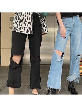 Acsense   Distressed Wide Leg Jeans by Acsense