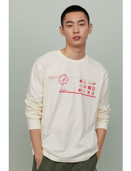 Katoenen Shirt Met Print by H&M