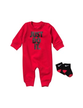 Icon Coverall & Socks Set (Baby Boys) by Nike