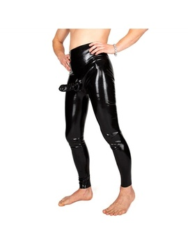 Latex Rubber Men Unique Black Trousers Military Trousers Pants Size Xxs Xxl by Wish
