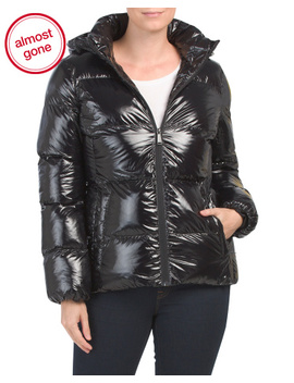 Shiny Puffer Coat by Tj Maxx