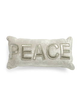 Made In India 12x24 Beaded Peace Pillow by Tj Maxx