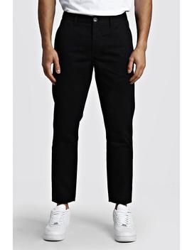 Slim Fit Rigid Chino Trouser by Boohoo