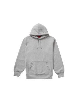 Supreme Micro Logo Hooded Sweatshirt Heather Grey by Stock X