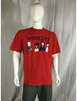 Weezer 2002 Shirt Band As Cartoons Design, Red, Men's Xl   Maladroit Era by All Style