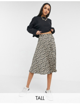 Missguided Tall Pleated Midi Skirt In Leopard Print by Missguided's