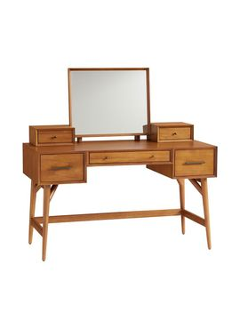 Mid Century Vanity Desk Set   Acorn by West Elm