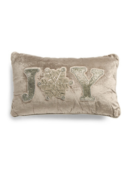 Made In India 12x20 Snowflake Joy Pillow by Tj Maxx