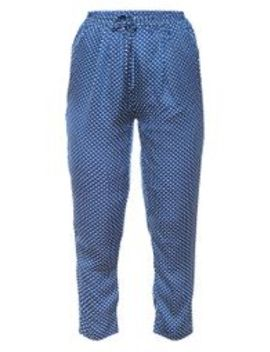 Pantalon Cigarette Bleu Marine à Pois  by Prettylittlething