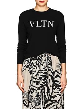 """Vltn"" Wool Cashmere Sweater by Valentino"