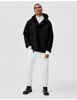 Jacket With Pouch Pocket And Buttons by Pull & Bear