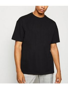 Black Oversized Cotton T Shirt by New Look