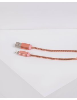 Rose Gold Metallic Usb Cable by Colette Hayman