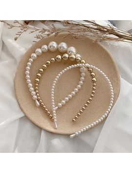 Ticoo   Faux Pearl / Alloy Bead Headband by Ticoo