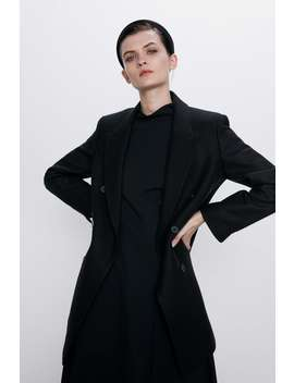 Straight Fit Double Breasted Coat by Zara