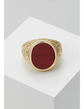 Gold Plated Silver Red Agate Ring   Ring by Serge De Nimes