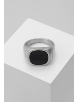 Squared Black Stone Ring    Ring by Guess