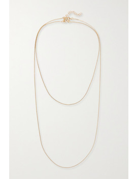 Deep In Grassland Set Of Two Gold Plated Necklaces by 1064 Studio