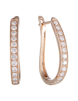 14 K Rose Gold 1.00 Ct. Tw. Diamond Hoops by Diamond Select Cuts