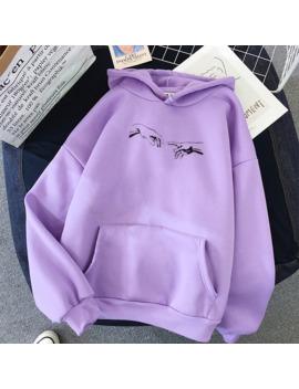 Winter Skuggnas Creation Hands Line Art Sweatshirts Oversized Hoodie Kawaii Jumper Outfits Tumblr Gothic Aesthetic Harajuku by Ali Express.Com