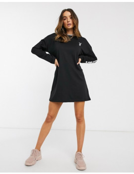 Missguided Playboy T Shirt Dress With Diamante Bunny Back Print In Black by Missguided's
