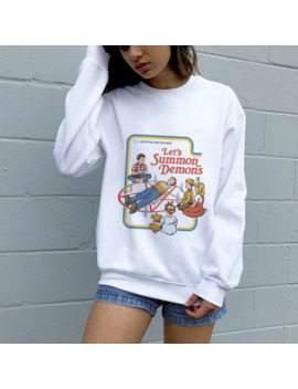 Autumn Winter Punk Sweatshirts Kawaii Graphic Printed Casual Pullover Grunge Aesthetic 90s Long Sleeve Hoodies Womens Clothing by Ali Express.Com