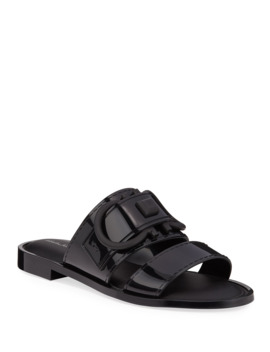 Taryn Jelly Logo Slide Sandals by Salvatore Ferragamo