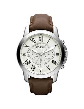Fossil Grant Men's Brown Leather Strap Chronograph Watch835/6866 by Argos