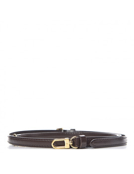 Louis Vuitton Calfskin 16mm Shoulder Strap Ebene by Louis Vuitton