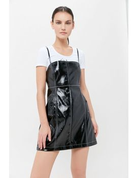 Uo Bergamo Faux Leather Mini Dress by Urban Outfitters