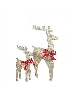 36 In. Christmas Outdoor Decorations Sparkling Standing Reindeer (2 Pack) by Northlight