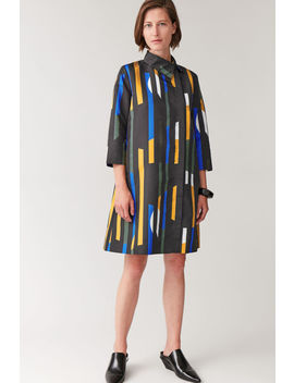 Smooth Printed Long Sleeved Dress by Cos
