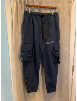 """Off White """"Cargo Pant"""" Parachute Pants Navy Blue by Off White  ×"""