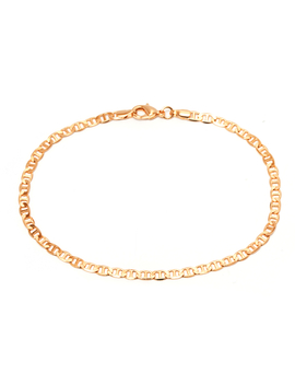"18kt Gold Flat Marino Chain Anklet, 10"" by Peermont"