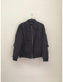 Anglomania Bondage Navy Check Bomber by Vivienne Westwood  ×